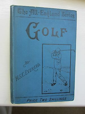 "Vintage Golf Book:""golf"" H.s.c. Everard 1904"