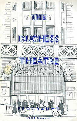 1958 Theatre programme THE UNEXPECTED GUEST by Agatha Christie Duchess Theatre