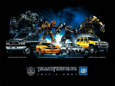 Car Poster of Trasformers 60cm x 45cm Aprox