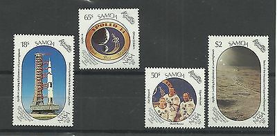 SAMOA 1989  20th Anniversary First manned landing on the moon  umm / mnh  set