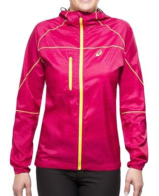 Asics Print FujiTrail Packable Ladies Running Jacket - Pink