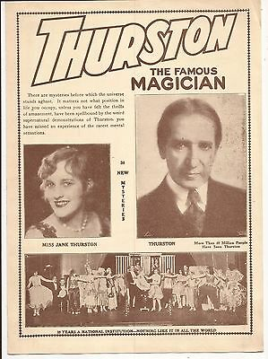HOWARD THURSTON THE FAMOUS MAGICIAN PROGRAM Erlanger Theatre, Chicago