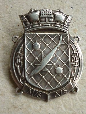 Ww2 Silver Badge Royal Naval Patrol Service Minesweeping & Anti Submarine