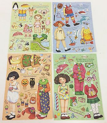 4 Mary Engelbreit Home Companion Magazine Paper Doll Sheets