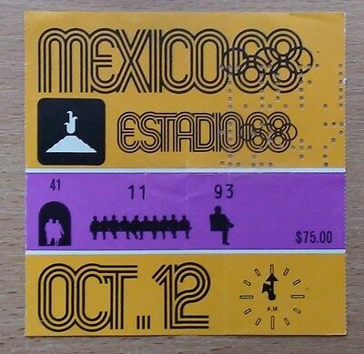 Tickets Olympic Games 1968, Mexico, opening ceremony