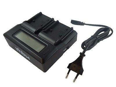 2in1 DUAL CHARGER + DISPLAY for Panasonic Lumix DMC-L1 / LC1
