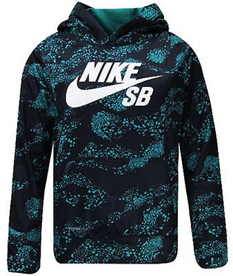 Nike SB All Over Therma Fit Junior Hoody - Navy