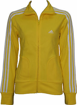 adidas Essential 3 Stripe Ladies Track Jacket - Yellow