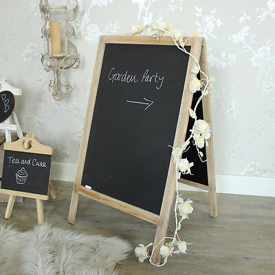 Large Free Standing Floor Blackboard Stand double side cafe restaurant message