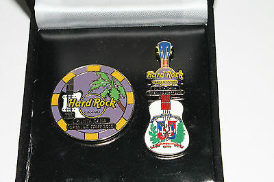 Hard Rock Cafe Hotel & Casino Punta Cana 2010 Opening Team 2 Pins Boxed