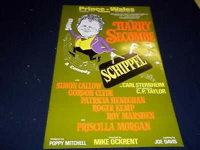1975 Schippel Prince Of Wales Theater Poster Starring Harry Secombe - P 134