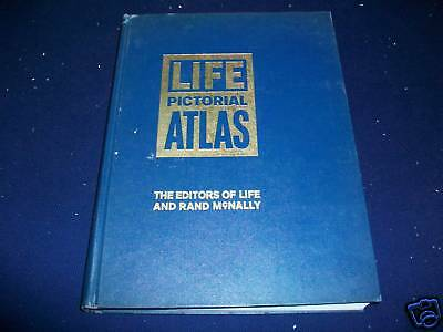 1961 Life Pictorial Atlas - Rand Mcnally - Nice Maps & Pictures - Kd 2948