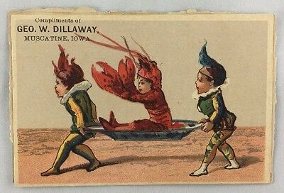 c1880s Victorian Trade Card Notable Citizen George Dillaway Muscatine Iowa