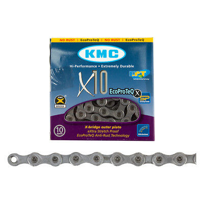 1or 2Pak KMC X11 EPT EcoProTeQ 11 Speed Bike Dark Silver Chain Anti Rust