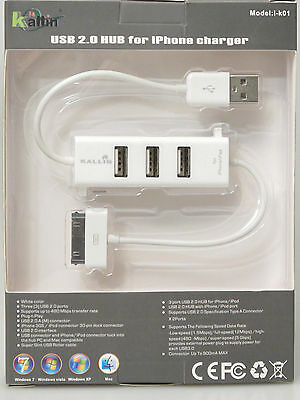 (PRL) ADATTATORE ADAPTER iPAD iPHONE NOTEBOOK PC CHARGER 3 PORT USB 2.0 HUB
