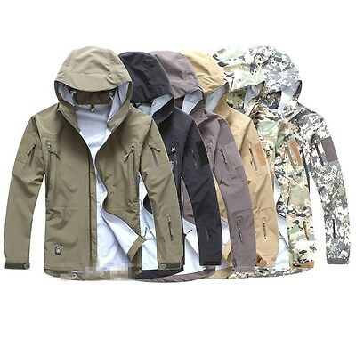 Airsoft Men's Military Tactical Jacket HardShell Hoodie Waterproof TAD Hunting