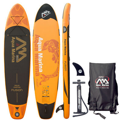 "Aqua Marina 10'10"" Fusion Inflatable Stand Up Paddle Board Isup Pump+Accessories"