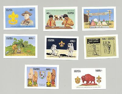 Uganda 1991 Boy Scouts, Apollo, Space, Stamp on Stamp, 8v. imperf proofs
