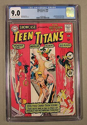 Showcase #59, CGC 9.0, OW/W, 1965, Return of the Teen Titans!