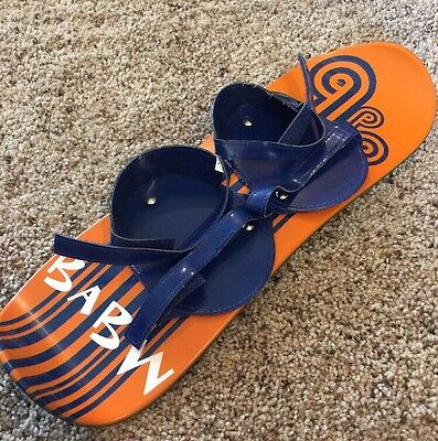 "2009 ~ Build A Bear Workshop 14"" Snowboard Blue Boots ~ Orange Snowboard"