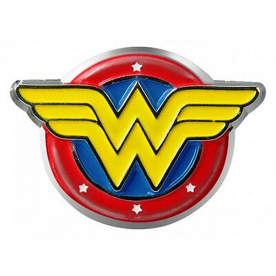 DC Comics Wonder Woman Colored Metal Pewter WW Logo Lapel Pin, NEW UNUSED