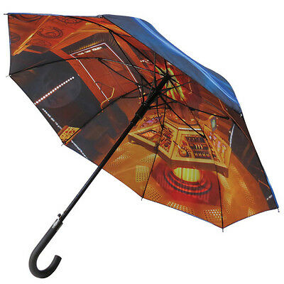 Doctor Who Double-Sided Tardis Umbrella with Shoulder Strap, NEW UNUSED