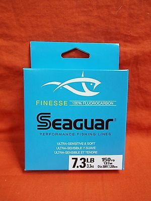 SEAGUAR Finesse 100% Fluorocarbon Fishing Line 7.3 lb (150yd) #11333 Clear