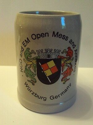 Military NCO And EM Open Mess WURSBURG GERMANY Beer Mug