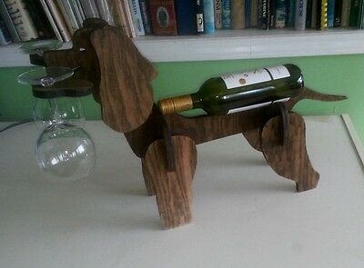 Irish Water Spaniel Wooden Wine Rack
