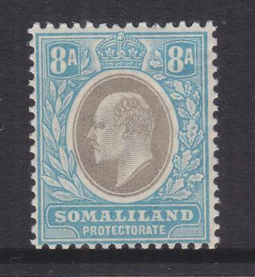 SOMALILAND PROTECTORATE, 1905 KEVII, Mult. CA, 8a. Grey Black & Pale Blue, lhm.