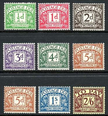 1936-37 Postage Due Set (9), Very Fine Unmounted Mint (Mnh)