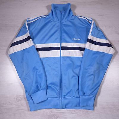 Mens ADIDAS ORIGINALS Vintage Retro Polyester Tracksuit Top Jacket Medium #B2395