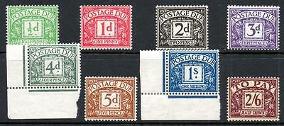1937-38 Postage Due Set (8), Very Fine Unmounted Mint (Mnh)