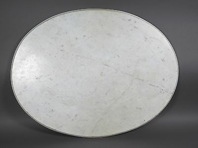 "Antique White Marble Oval Table Top (36.5"" x 28.25"") Stone Slab"