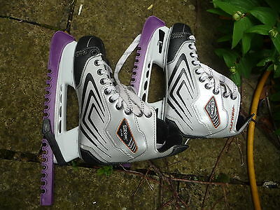Skates ice CCM 2.0 Exo-skel size 6 / 39  black grey + covers