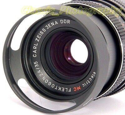 ZEISS Flektogon 2.4/35mm PANCOLAR Oreston 1.8/50 fit 49mm Metal Vented Lens Hood