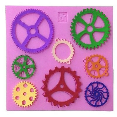 Steampunk Cogs Cake Mould For Sweets Jelly Cake Decoration Soap  Ect 8 Holes