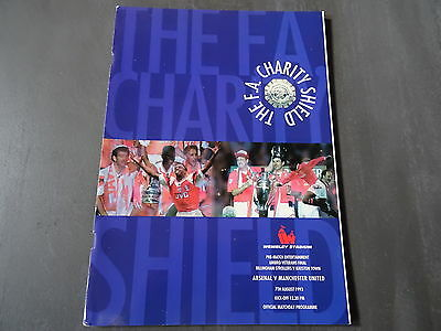 1993 FA Charity Shield Programme - Arsenal v Manchester United - 7th August 1993