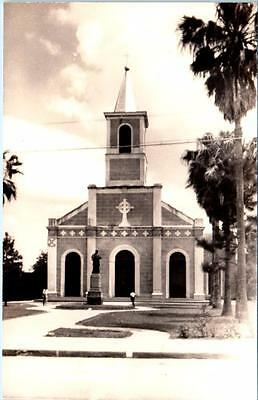 RPPC  ST. MARTINVILLE, Louisiana LA   ST. MARTIN CATHOLIC CHURCH  1940s Postcard