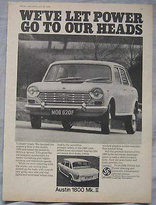 1968 Austin 1800 Mk II Original advert No.1