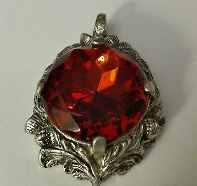 Large vintage Red glass Scottish pendant