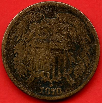 1870 United States 2 Cent Coin