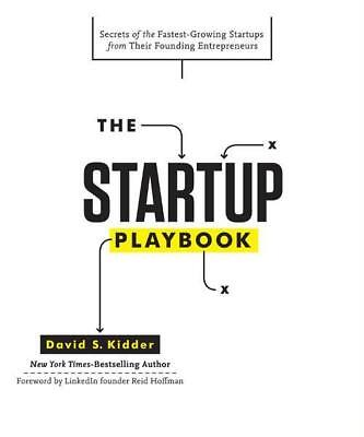NEW The Startup Playbook By David S. Kidder Hardcover Free Shipping