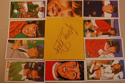 George Best Autograph With 10 Cards Of His Career