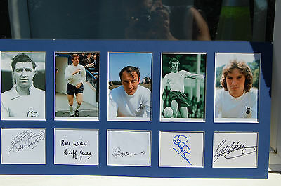 Spurs Legends 5  Cup Legends Signed Photo Mount Greaves, Smith, Jones  Etc