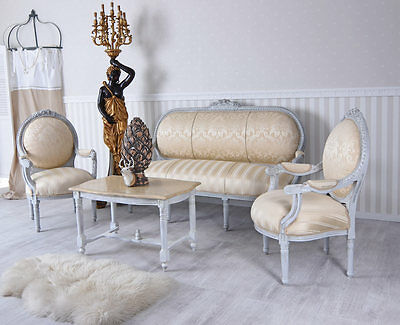 Lounge Suite Sofa Chair Coffee Table Rococo Table And Chairs Salon Baroque Sofa