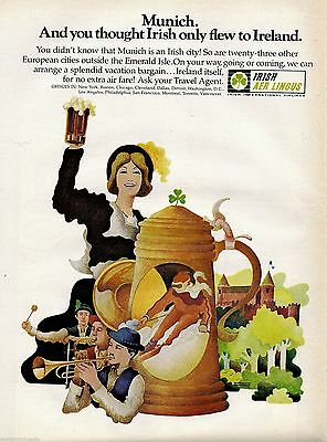 1970 AER LINGUS Irish International Airlines Travel to Munich AD