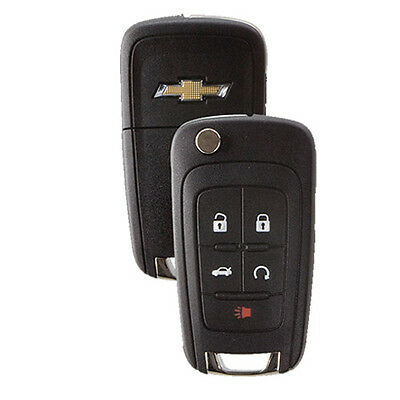 New Flip Key Keyless Entry Remote Fob for Chevrolet 5-button with Remote Start
