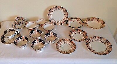 An Assortment Of Early 20th Century Imari Teaset Pieces - Some Stamped