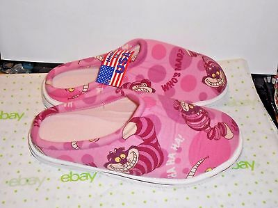 HTF Disney Cheshire Cat House Slippers, Mint in Pkg, Ladies 9-10 Made in USA